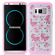 *Sale* TotalDefense Diamond Hybrid Armor Case for Samsung Galaxy S8 Plus - Butterfly Pink