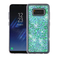Quicksand Glitter Transparent Case for Samsung Galaxy S8 - Blue
