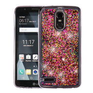 *Sale* Quicksand Glitter Transparent Case for LG Stylo 3 / Stylo 3 Plus - Hot Pink