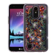 Quicksand Glitter Transparent Case for LG K20 Plus / K20 V / K10 (2017) / Harmony - Magenta