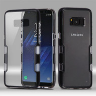 TUFF Panoview Transparent Hybrid Case for Samsung Galaxy S8 Plus - Black