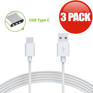 USB 3.1 Type-C (USB-C) to Type-A (USB-A) Charge and Sync Cable - 3 Pack White