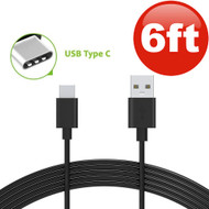 6 ft. USB 3.1 Type-C (USB-C) to Type-A (USB-A) Charge and Sync Cable - Black
