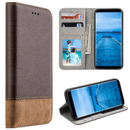 *SALE* Urban Textile Dual Tone Leather Wallet Case for Samsung Galaxy S8 - Brown