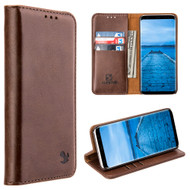2-IN-1 Luxury Magnetic Leather Wallet Case for Samsung Galaxy S8 - Brown
