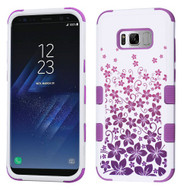 Military Grade Certified TUFF Image Hybrid Armor Case for Samsung Galaxy S8 - Purple Rising Hibiscus