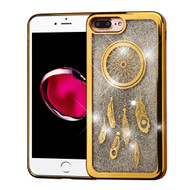 *Sale* Electroplating Quicksand Glitter Transparent Case for iPhone 7 Plus - Dreamcatcher Gold