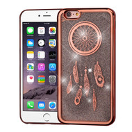 Electroplating Quicksand Glitter Transparent Case for iPhone 6 Plus / 6S Plus - Dreamcatcher Rose Gold