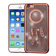 Electroplating Quicksand Glitter Transparent Case for iPhone 6 / 6S - Dreamcatcher Rose Gold