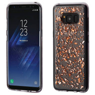 Krystal Gel Series Flakes Transparent TPU Case for Samsung Galaxy S8 - Rose Gold