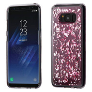 *Sale* Krystal Gel Series Flakes Transparent TPU Case for Samsung Galaxy S8 Plus - Pink