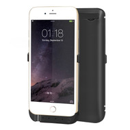 Power Bank Battery Case 5800mAh with External USB Charging Port for iPhone 6 / 6S - Black