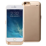 Power Bank Battery Case 5800mAh with External USB Charging Port for iPhone 6 / 6S - Gold