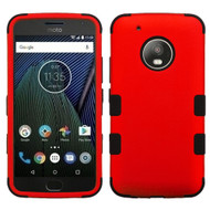 Military Grade Certified TUFF Hybrid Armor Case for Motorola Moto G5 Plus - Red