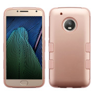 Military Grade Certified TUFF Hybrid Armor Case for Motorola Moto G5 Plus - Rose Gold
