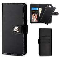 2-IN-1 Premium Leather Wallet with Removable Magnetic Case for iPhone 8 Plus / 7 Plus - Black