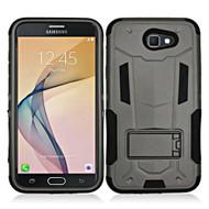 Transformer Hybrid Armor Case with Stand for Samsung Galaxy J7 (2017) / J7 V / J7 Perx - Black