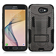 *SALE* Transformer Hybrid Armor Case with Stand for Samsung Galaxy J7 (2017) / J7 V / J7 Perx - Carbon Fiber