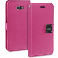 Essential Leather Wallet Case for Samsung Galaxy J7 (2017) / J7 V / J7 Perx - Hot Pink