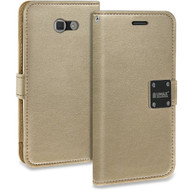 Essential Leather Wallet Case for Samsung Galaxy J7 (2017) / J7 V / J7 Perx - Gold