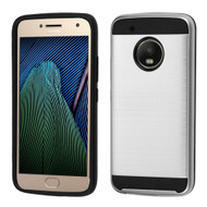Brushed Hybrid Armor Case for Motorola Moto G5 Plus - Silver