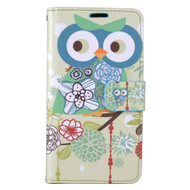 *SALE* Designer Graphic Leather Wallet Stand Case for Samsung Galaxy J7 (2017) / J7 V / J7 Perx - Owl