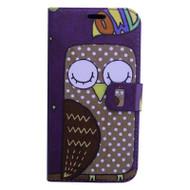 *Sale* Designer Graphic Leather Wallet Stand Case for Samsung Galaxy J7 (2017) / J7 V / J7 Perx - Sleeping Owl