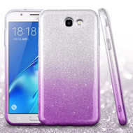 *SALE* Full Glitter Hybrid Protective Case for Samsung Galaxy J7 (2017) / J7 V / J7 Perx - Gradient Purple