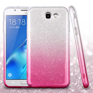 *SALE* Full Glitter Hybrid Protective Case for Samsung Galaxy J7 (2017) / J7 V / J7 Perx - Gradient Hot Pink