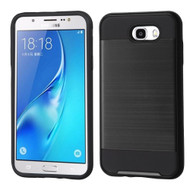Brushed Hybrid Armor Case for Samsung Galaxy J7 (2017) / J7 V / J7 Perx - Black