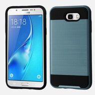 *SALE* Brushed Hybrid Armor Case for Samsung Galaxy J7 (2017) / J7 V / J7 Perx - Ink Blue