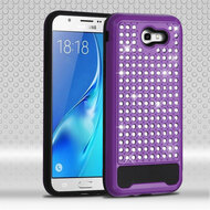 Luxury Bling Diamond Hybrid Case for Samsung Galaxy J7 (2017) / J7 V / J7 Perx - Purple