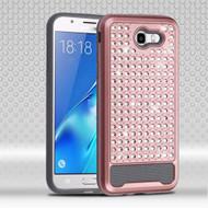 Luxury Bling Diamond Hybrid Case for Samsung Galaxy J7 (2017) / J7 V / J7 Perx - Rose Gold