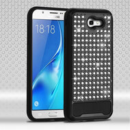 Luxury Bling Diamond Hybrid Case for Samsung Galaxy J7 (2017) / J7 V / J7 Perx - Black
