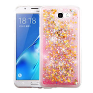 Quicksand Glitter Transparent Case for Samsung Galaxy J7 (2017) / J7 V / J7 Perx - Pink