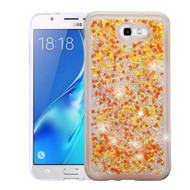 Quicksand Glitter Transparent Case for Samsung Galaxy J7 (2017) / J7 V / J7 Perx - Gold