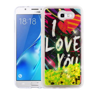 *Sale* Quicksand Glitter Transparent Case for Samsung Galaxy J7 (2017) / J7 V / J7 Perx - I Love You