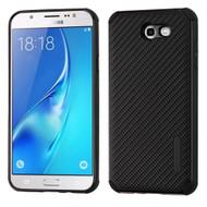 Rugged Weave Multi-Layer Hybrid Case for Samsung Galaxy J7 (2017) / J7 V / J7 Perx - Black