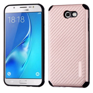 Rugged Weave Multi-Layer Hybrid Case for Samsung Galaxy J7 (2017) / J7 V / J7 Perx - Rose Gold