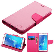 Diary Leather Wallet Case for Samsung Galaxy J7 (2017) / J7 V / J7 Perx - Pink