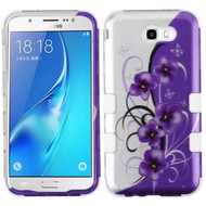*SALE* Military Grade TUFF Image Hybrid Armor Case for Samsung Galaxy J7 (2017) / J7 V / J7 Perx - Twilight Petunias