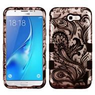 Military Grade Certified TUFF Image Hybrid Armor Case for Samsung Galaxy J7 (2017) / J7 V / J7 Perx - Phoenix Flower