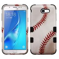 Military Grade Certified TUFF Image Hybrid Armor Case for Samsung Galaxy J7 (2017) / J7 V / J7 Perx - Baseball