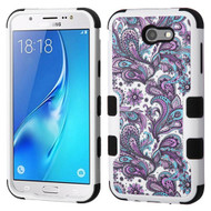 Military Grade Certified TUFF Image Hybrid Armor Case for Samsung Galaxy J7 (2017) / J7 V / J7 Perx - Persian Paisley