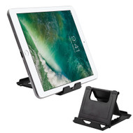 Multiple Angles Desktop Folding Stand for Tablets and Smartphones - Black