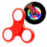 *SALE* LED Light Fidget Finger Spinner Hand Spinning Toy - Red