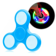 LED Light Fidget Finger Spinner Hand Spinning Toy - Baby Blue