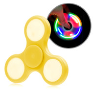 *Sale* LED Light Fidget Finger Spinner Hand Spinning Toy - Yellow