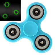 Glow In The Dark Fidget Finger Spinner Hand Spinning Toy - Blue
