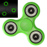 Glow In The Dark Fidget Finger Spinner Hand Spinning Toy - Green